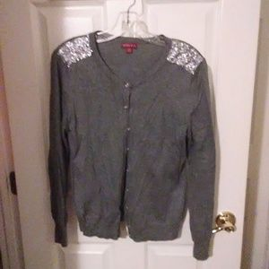Cardigan sweater Like New sequin detail